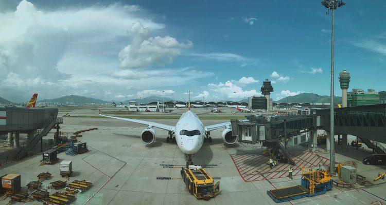 Airplane waiting to take off