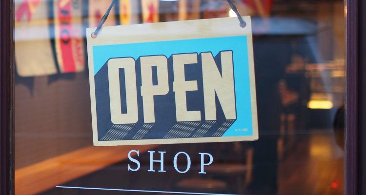 Open sign for shop